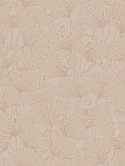 The wallpaper Ginkgo from Boråstapeter. The wallpaper design and pattern is pink and consists of Foliage