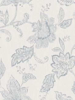 The wallpaper Indigo Bloom from Boråstapeter. The wallpaper design and pattern is blue and consists of Floral Textile