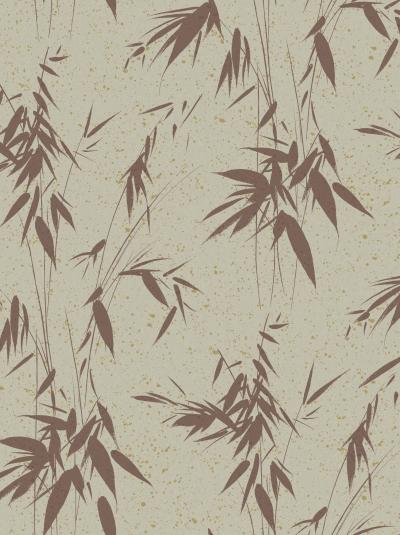 The wallpaper Ink Bamboo from Boråstapeter. The wallpaper design and pattern is red and consists of Foliage