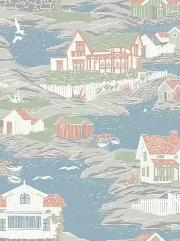 The wallpaper Archipelago from Boråstapeter. The wallpaper design and pattern is multi and consists of Traditional
