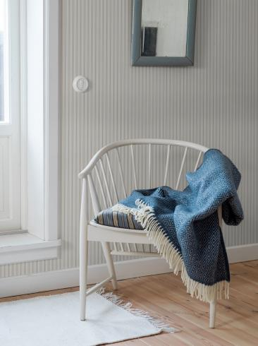 The wallpaper Aspö Stripe from Boråstapeter. The wallpaper design and pattern is neutrals and consists of Stripe