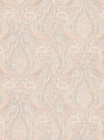 The wallpaper Divine Paisley from Boråstapeter. The wallpaper design and pattern is pink and consists of Metallic