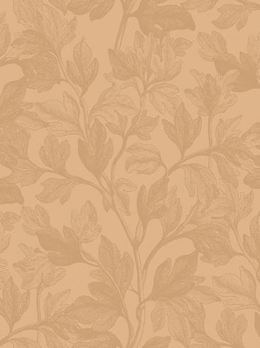 The wallpaper Fig from Engblad & Co. The wallpaper design and pattern is yellow and consists of Plants