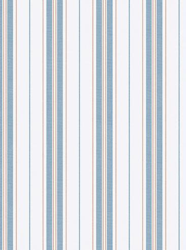The wallpaper Hamnskär Stripe from Boråstapeter. The wallpaper design and pattern is blue and consists of Stripe