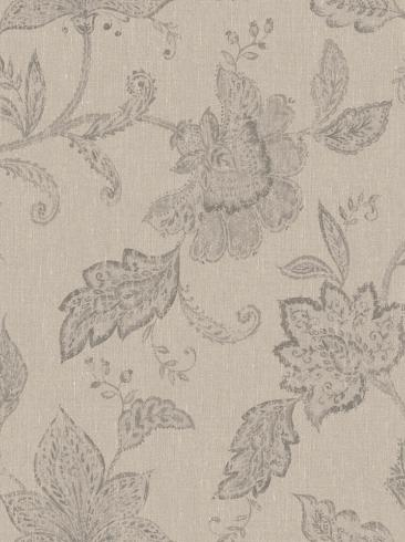The wallpaper Indigo Bloom from Boråstapeter. The wallpaper design and pattern is neutrals and consists of Floral Textile
