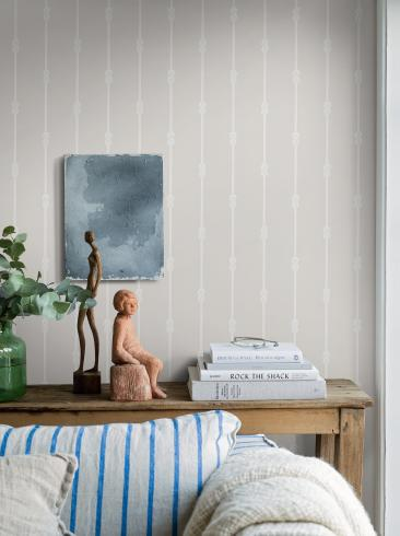The wallpaper Knot stripe from Boråstapeter. The wallpaper design and pattern is neutrals and consists of Stripe
