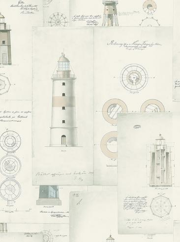 The wallpaper Lighthouse from Boråstapeter. The wallpaper design and pattern is neutrals and consists of Sketched