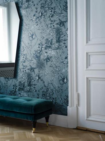 The wallpaper Miramar from Engblad & Co. The wallpaper design and pattern is and consists of Animals
