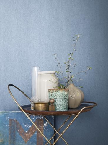 The wallpaper Ocean Blue from Engblad & Co. The wallpaper design and pattern is blue and consists of Single Colour