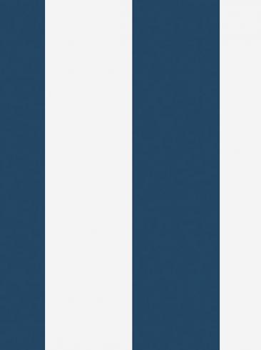 The wallpaper Orust Stripe from Boråstapeter. The wallpaper design and pattern is blue and consists of Stripe