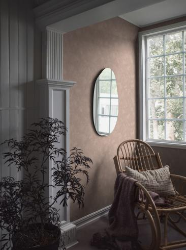 The wallpaper Painter´s Wall from Boråstapeter. The wallpaper design and pattern is pink and consists of Limestone Single Colour
