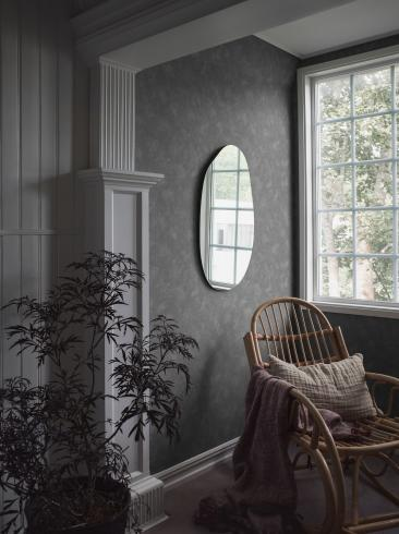 The wallpaper Painter´s Wall from Boråstapeter. The wallpaper design and pattern is blue and consists of Limestone Single Colour