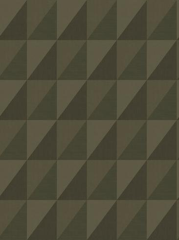 The wallpaper Plaza from Engblad & Co. The wallpaper design and pattern is green and consists of Geometric Graphic
