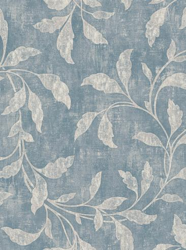 The wallpaper Rosewood Night from Boråstapeter. The wallpaper design and pattern is blue and consists of Floral Plants