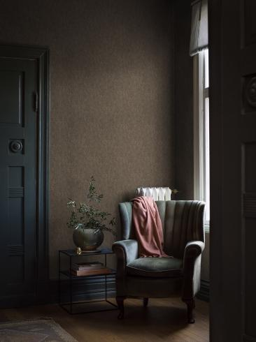 The wallpaper Sahara Evening from Boråstapeter. The wallpaper design and pattern is brown and consists of Single Colour