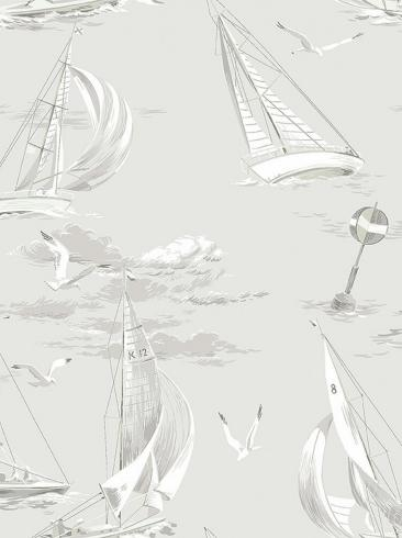 The wallpaper Sailboats from Boråstapeter. The wallpaper design and pattern is grey and consists of Archive