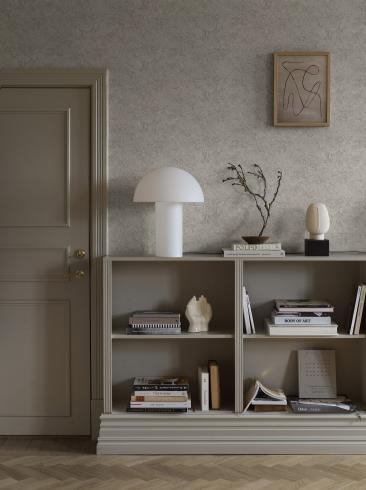 The wallpaper Travertine from Boråstapeter. The wallpaper design and pattern is grey and consists of Marble