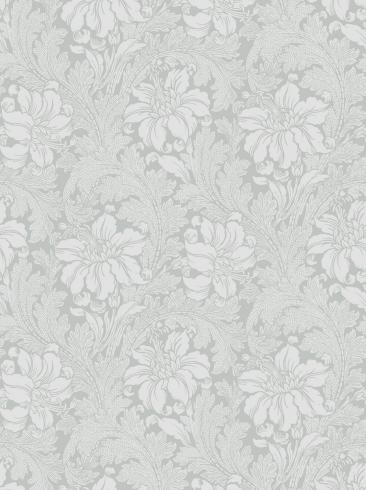 The wallpaper Acanthus from Engblad & Co. The wallpaper design and pattern is grey and consists of Archive Floral Foliage Traditional