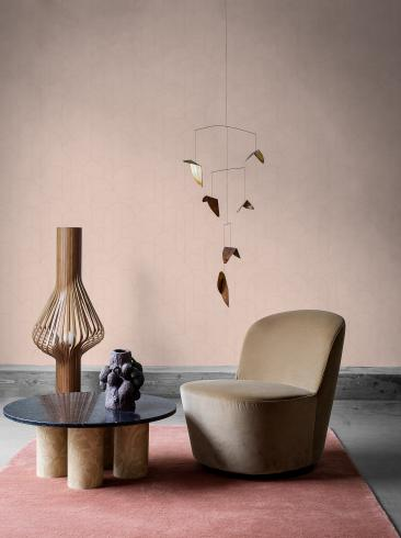 The wallpaper Arch from Engblad & Co. The wallpaper design and pattern is pink and consists of Geometric Graphic