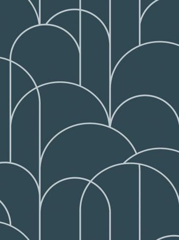 The wallpaper Arch from Engblad & Co. The wallpaper design and pattern is blue and consists of Geometric Graphic