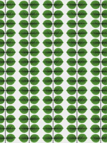 The wallpaper Berså from Boråstapeter. The wallpaper design and pattern is green and consists of Plants
