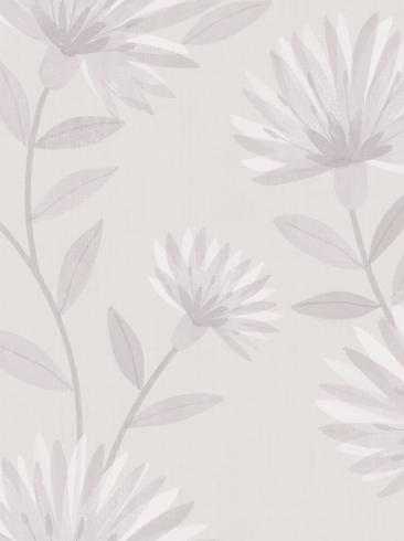 The wallpaper Bessie from Boråstapeter. The wallpaper design and pattern is white and consists of Floral Graphic Sketched