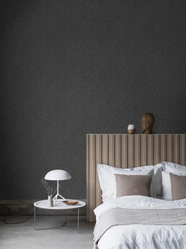 The wallpaper Branches from Engblad & Co. The wallpaper design and pattern is black and consists of Tree
