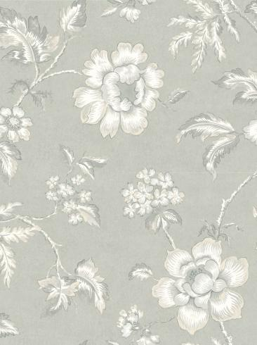 The wallpaper Camille from Boråstapeter. The wallpaper design and pattern is neutrals and consists of Floral