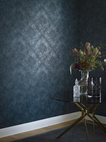 The wallpaper Classic Royal from Engblad & Co. The wallpaper design and pattern is blue and consists of Single Colour