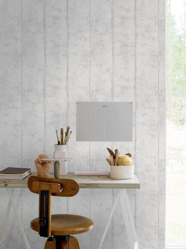 The wallpaper Concrete from Engblad & Co. The wallpaper design and pattern is white and consists of Concrete Stripe