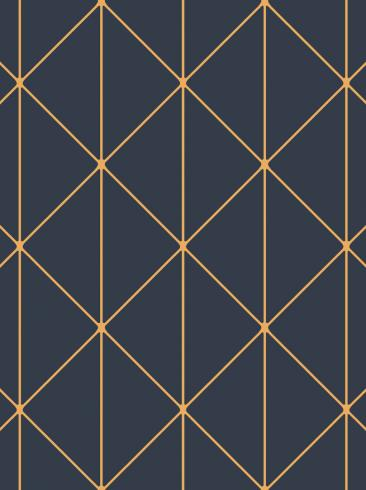 The wallpaper Diamonds from Engblad & Co. The wallpaper design and pattern is blue and consists of Geometric Graphic Harlequin