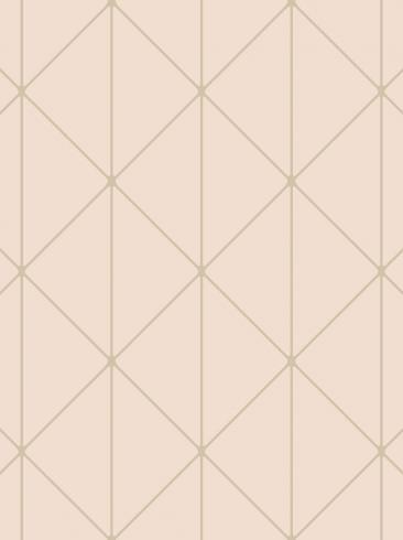 The wallpaper Diamonds from Engblad & Co. The wallpaper design and pattern is pink and consists of Geometric Graphic Harlequin
