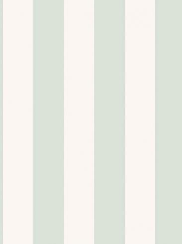 The wallpaper Falsterbo Stripe from Boråstapeter. The wallpaper design and pattern is green and consists of Stripe