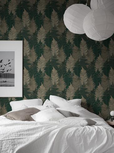 The wallpaper Fern Forest from Boråstapeter. The wallpaper design and pattern is multi and consists of Foliage Forest Plants