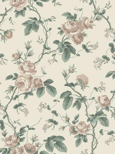 The wallpaper French Roses from Boråstapeter. The wallpaper design and pattern is pink and consists of Floral