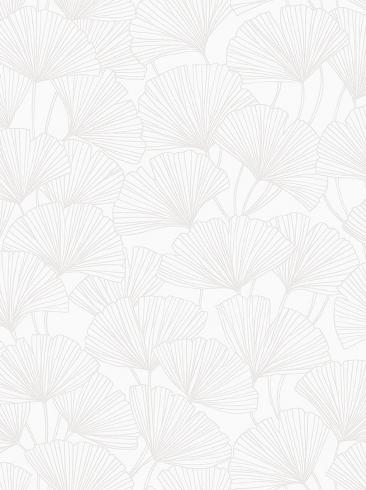 The wallpaper Ginkgo from Boråstapeter. The wallpaper design and pattern is white and consists of Foliage