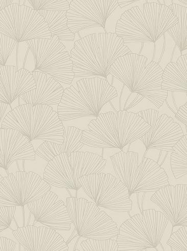 The wallpaper Ginkgo from Boråstapeter. The wallpaper design and pattern is neutrals and consists of Foliage