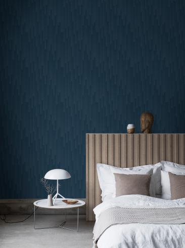 The wallpaper Gradient from Engblad & Co. The wallpaper design and pattern is blue and consists of Graphic