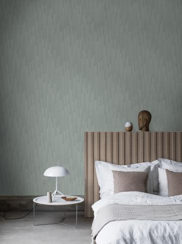 The wallpaper Gradient from Engblad & Co. The wallpaper design and pattern is green and consists of Graphic