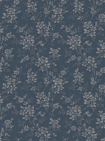 The wallpaper Hip Rose from Boråstapeter. The wallpaper design and pattern is blue and consists of Archive Floral Traditional