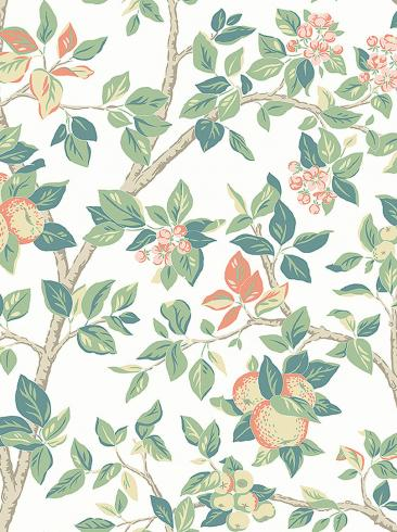 The wallpaper Ingrid Marie from Boråstapeter. The wallpaper design and pattern is white and consists of Floral Foliage Tree