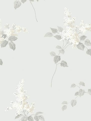 The wallpaper Lilacs from Boråstapeter. The wallpaper design and pattern is grey and consists of Floral