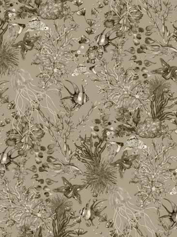 The wallpaper Miramar from Engblad & Co. The wallpaper design and pattern is brown and consists of Animals