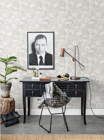 The wallpaper Näckros from Engblad & Co. The wallpaper design and pattern is neutrals and consists of Floral Traditional