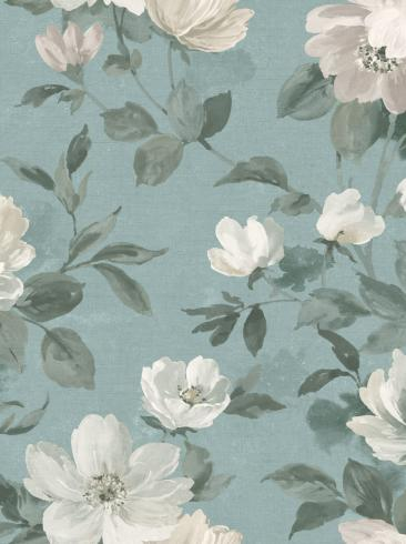 The wallpaper Peony from Boråstapeter. The wallpaper design and pattern is blue and consists of Floral
