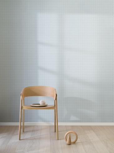 The wallpaper Petal from Engblad & Co. The wallpaper design and pattern is turquoise and consists of Geometric Graphic