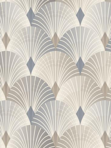 The wallpaper Pigalle from Engblad & Co. The wallpaper design and pattern is blue and consists of Damask
