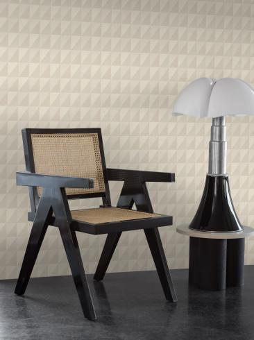 The wallpaper Plaza from Engblad & Co. The wallpaper design and pattern is neutrals and consists of Geometric Graphic