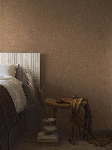 The wallpaper Raku from Boråstapeter. The wallpaper design and pattern is brown and consists of Contemporary