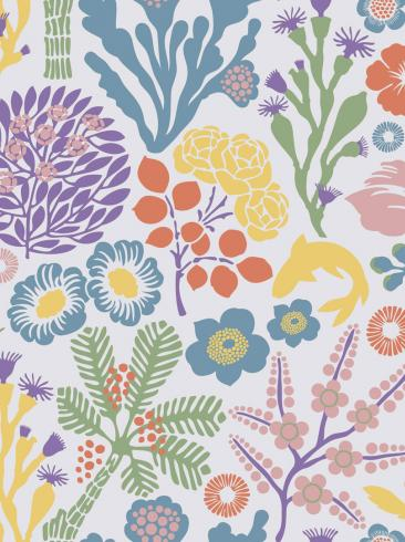 The wallpaper Rävdunge from Boråstapeter. The wallpaper design and pattern is multi and consists of Playful & Imaginative